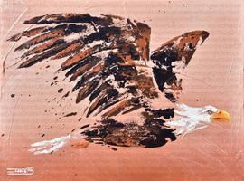 L'aigle fuyant by JessicaSansiquet
