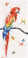 Rouge plumes by JessicaSansiquet