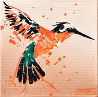 Colibri a volutes by JessicaSansiquet