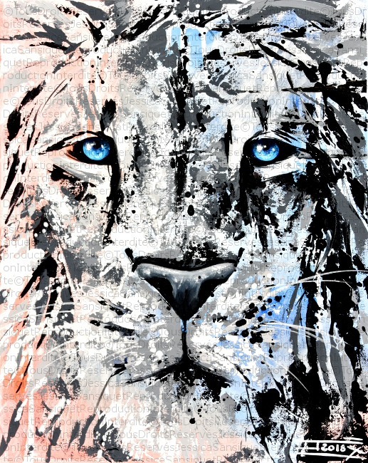 Face de lion by JessicaSansiquet