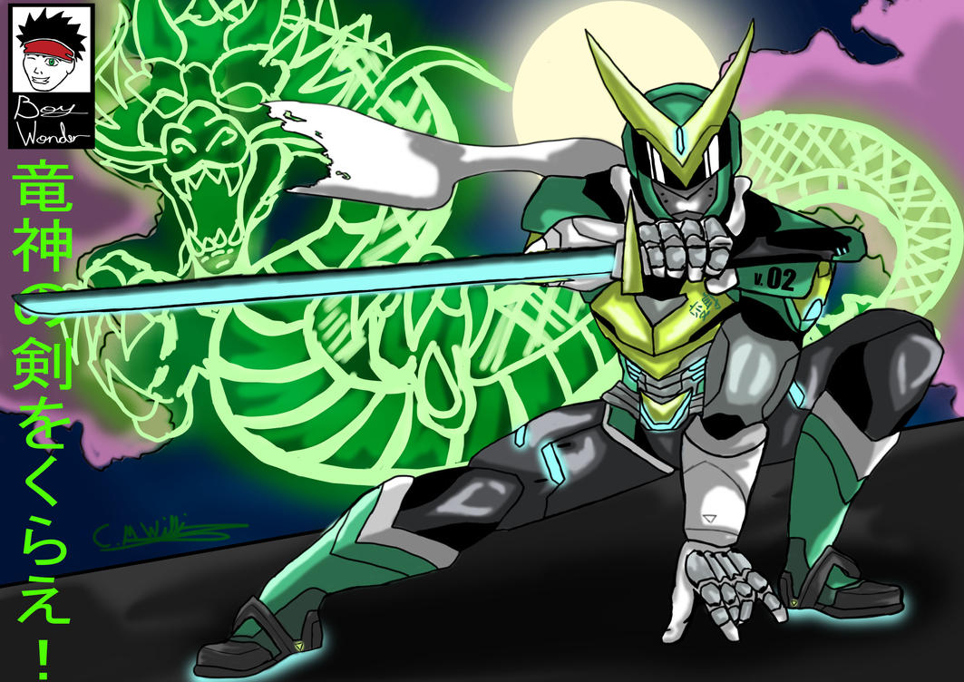 Genji Dragonblade Unleashed (Overwatch) by Boy-Wonder-Arts