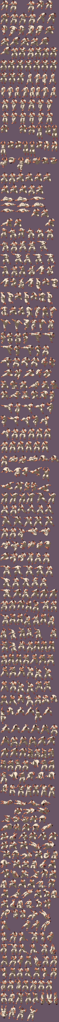 Takuma KoF XIII Sprite Sheet by SouthtownExpress