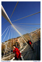 Zubizuri Bridge, Bilbao by chashmish