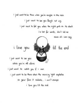 i love you till the end
