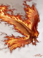 Burning Bird by phomax