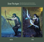 Elven Archer: before and after