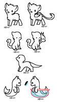 F2U Mythical animals base batch by IvonChee
