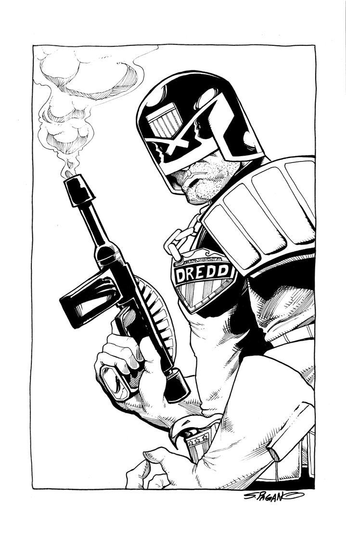 Judge Dredd by sjpagano
