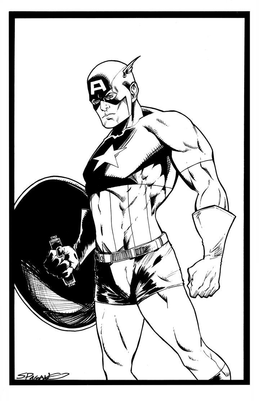 Captain America by sjpagano