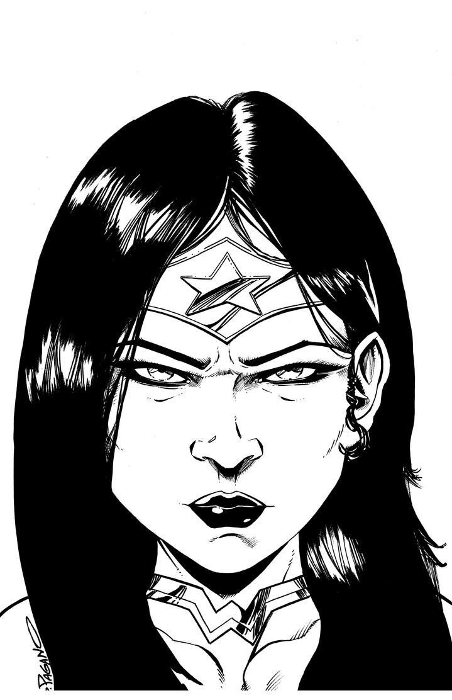 Wonder Woman Bust by sjpagano