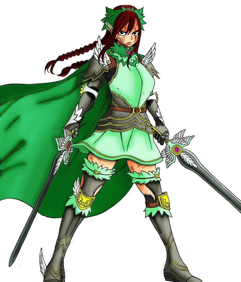 erza scarlet fairy armor by usako92 on deviantart