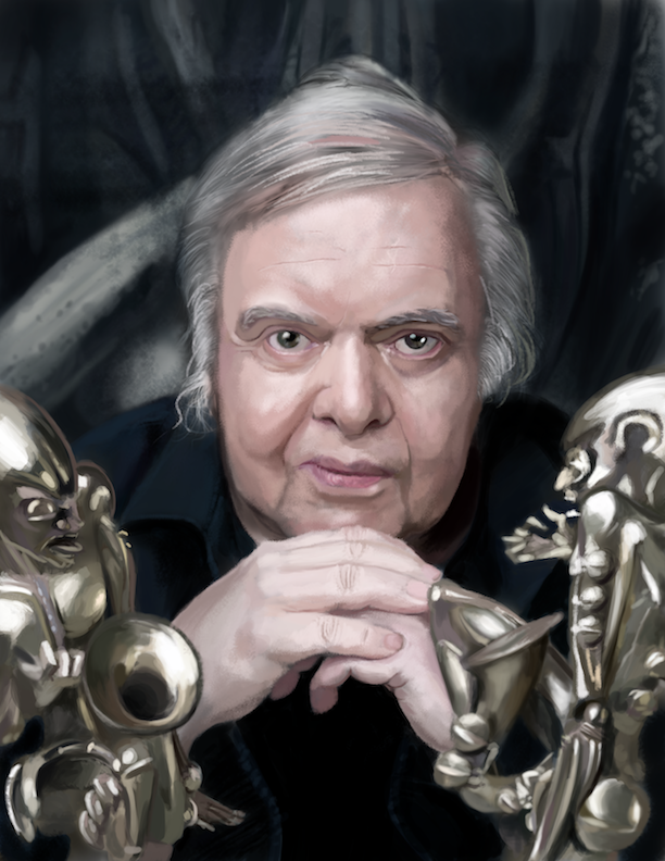 H. R. Giger by ViolentReverie