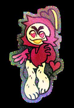 cupid rainbow sticker