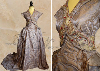 Sansa Stark Wedding gown Game of Thrones costume by Volto-Nero-Costumes