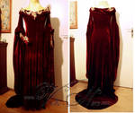 Guinevere red velvet gown Merlin cosplay costume