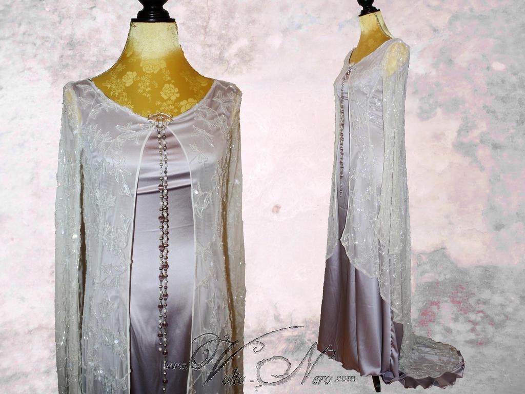 fireflypathbridal elvish wedding dress Bellydancer Wedding Gown Elven