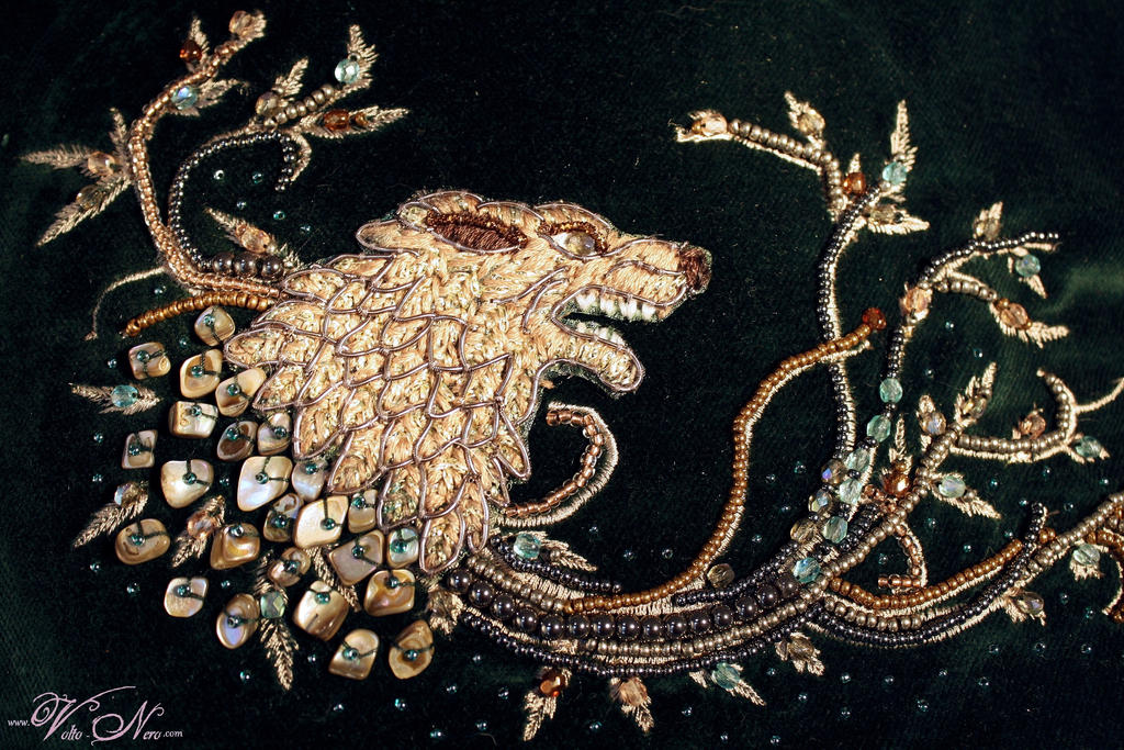 Sansa Stark Dress Game Of Thrones Gown Embroidery By Volto Nero