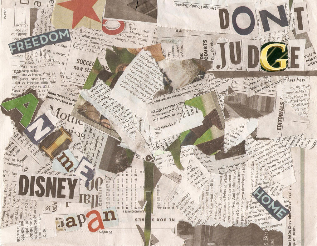 Newspaper Collage  Uni  Sem  Brief   Newspaper
