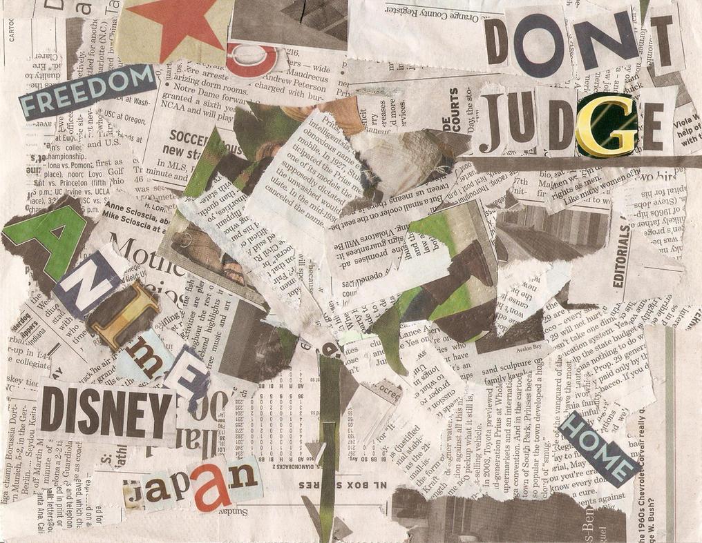 Newspaper Collage by IselaOrozco on DeviantArt