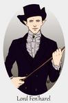 Prompt: Solas in Victorian era clothing