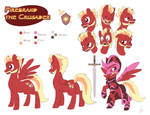 Commission: Firebrand the Crusader Reference Sheet