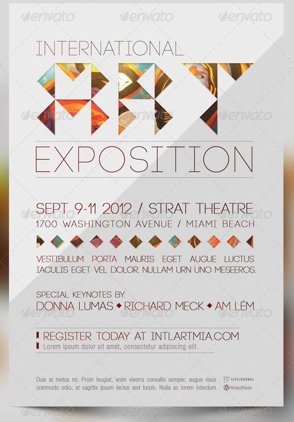 International art expo flyer and cd template by godserv on for Craft fair application template