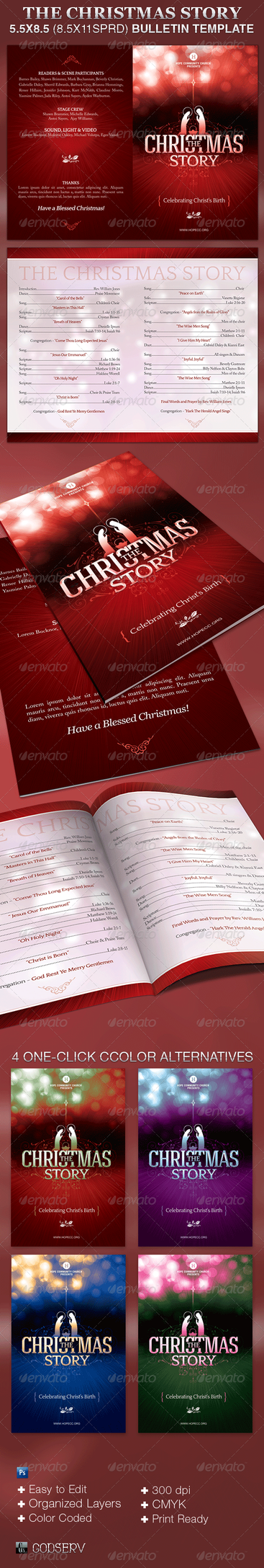 Church Bulletin Template - The Christmas Story by Godserv on DeviantArt
