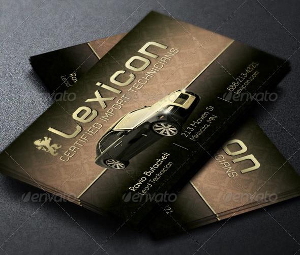 Auto Care Service Business Card Template