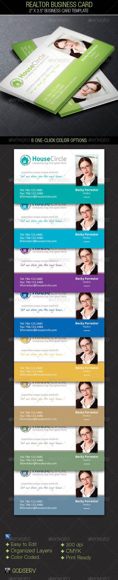 Realtor Business Card Template by Godserv