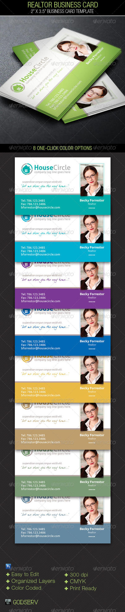 Realtor Business Card Template by Godserv
