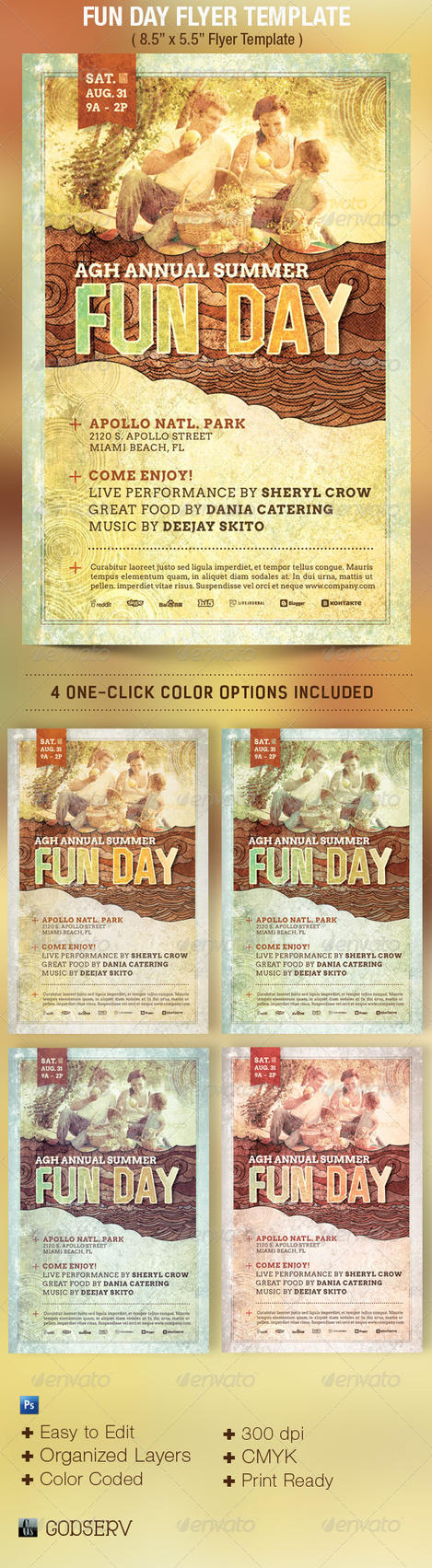 Fun day event flyer template by godserv on deviantart for Fun brochure templates