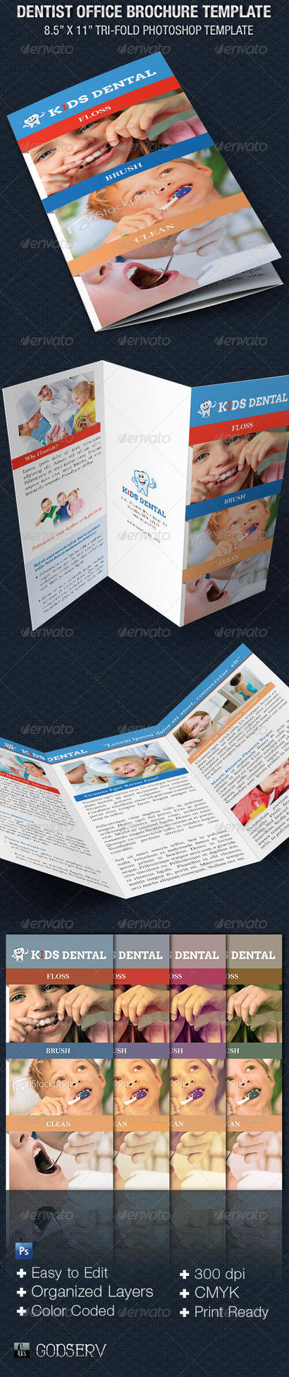 dentist office tri fold brochure template by godserv on deviantart. Black Bedroom Furniture Sets. Home Design Ideas