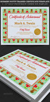 Nursery Potty Trained Certificate Template