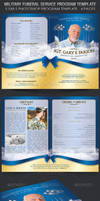 Military Funeral Service Program Template