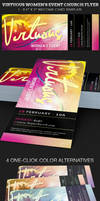 Free Virtuous Womens Event Church Flyer Template