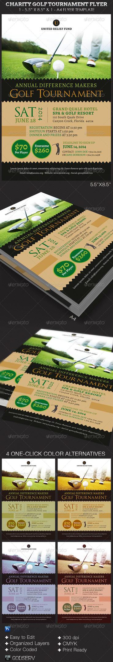 charity golf tournament flyer template by godserv on deviantart. Black Bedroom Furniture Sets. Home Design Ideas