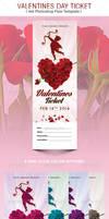 Valentines Day Ticket Template by Godserv