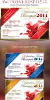 Valentine Rose Banquet Flyer Template by Godserv