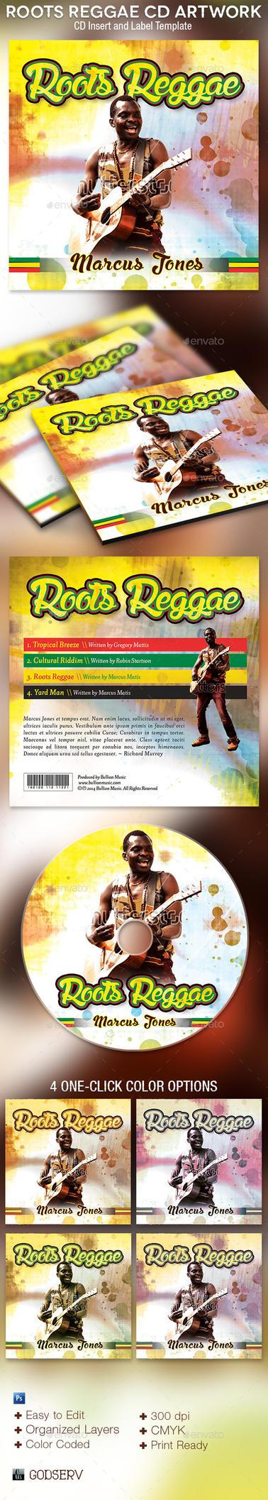 Roots Reggae CD Artwork Photoshop Template by Godserv