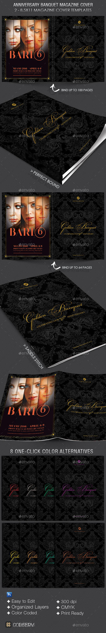 Anniversary Banquet Magazine Cover Template by Godserv