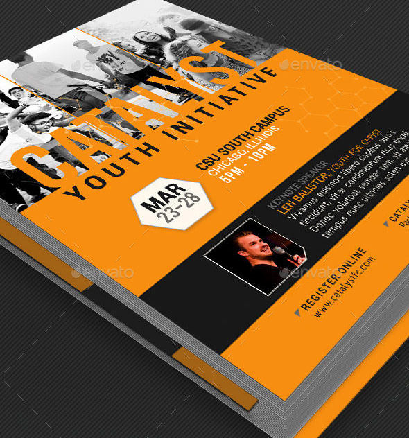 Catalyst Youth Summit Flyer Template by Godserv