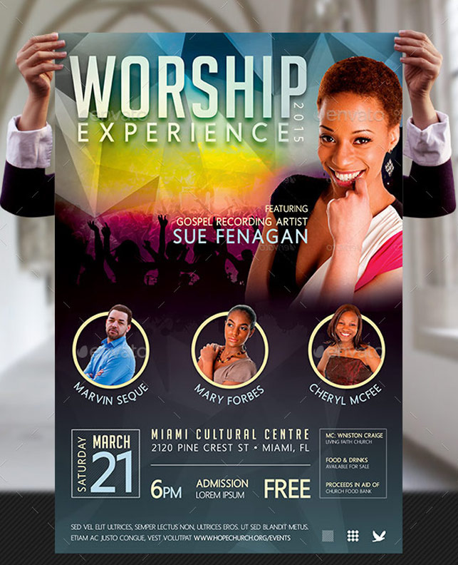 Free Fitness Gym Flyer Template Psd Files And Free Church: Worship Concert Poster Templates By Godserv On DeviantArt