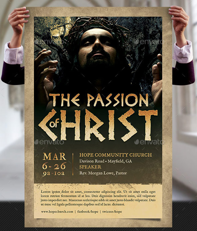 passion of christ flyer and poster template by godserv on deviantart. Black Bedroom Furniture Sets. Home Design Ideas