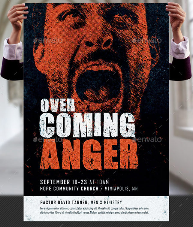 overcoming anger church flyer and poster template by godserv on deviantart. Black Bedroom Furniture Sets. Home Design Ideas