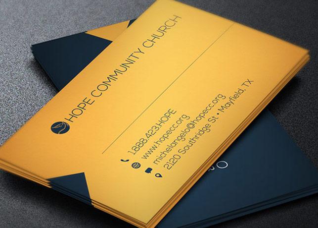 Modern Pastor Business Card Template by Godserv