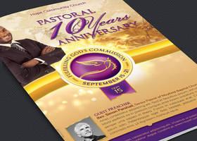Clergy Anniversary Service Program Template by Godserv