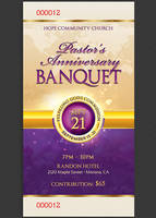 Clergy Anniversary Banquet Ticket Template by Godserv