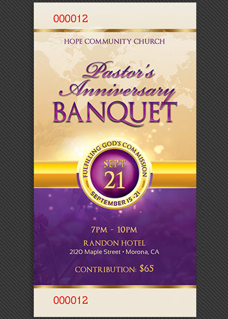 banquet tickets template