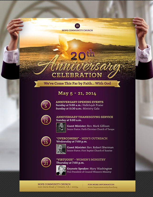 Church Anniversary Flyer and Poster Template by Godserv on DeviantArt