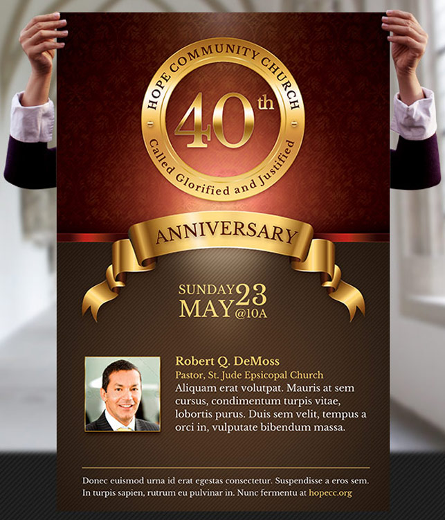Church Anniversary Flyer And Poster Template By Godserv ...